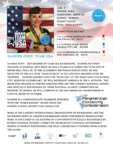 xander eddy team usa karate