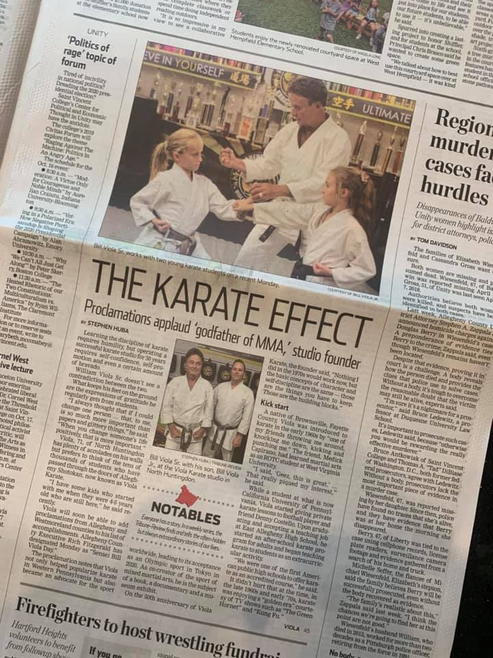 Sensei Viola Day in Pittsburgh Trib