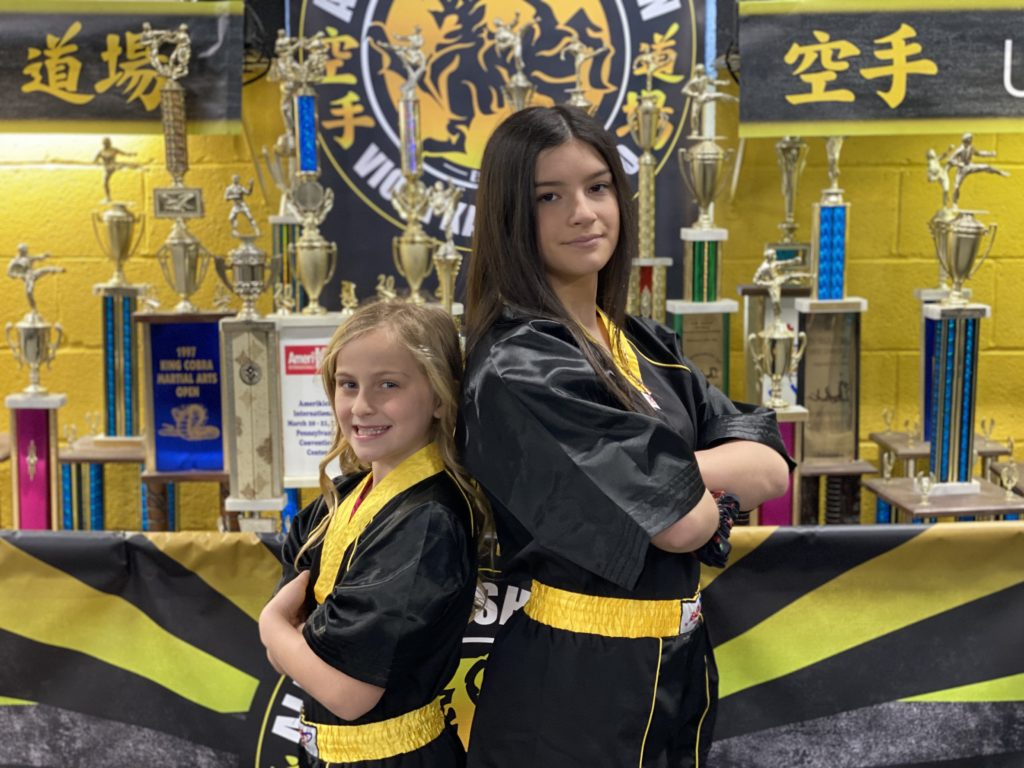 Gabby Viola and Lucy Lokay Karate girls