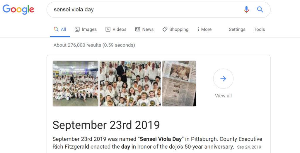 Sensei Viola Day